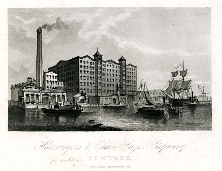 Havemeyer and Elder Sugar Refinery. Atlantic Publishing and Engraving Company. ca. 1870. M1979.1.1. Brooklyn Historical Society.