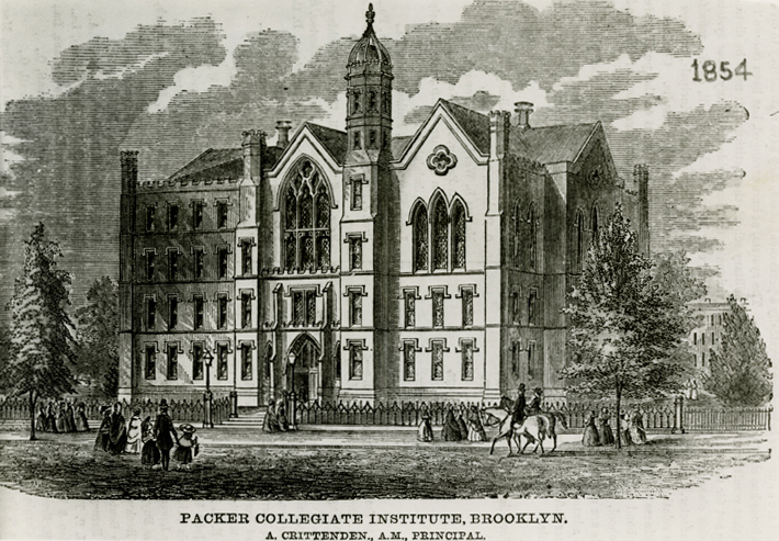 Packer Collegiate Institute, Brooklyn. 1854. Brooklyn photograph and illustration collection. V1973.5.2577. Brooklyn Historical Society.