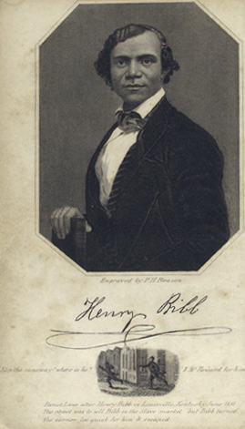 Portrait Henry Bibb. Manuscripts, Archives and Rare Books Division, Schomburg Center for Research in Black Culture, The New York Public Library.
