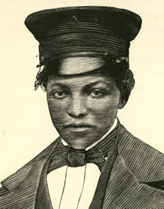 Ann Maria Weems dressed as Joe Wright. The underground rail road. William Still. 1872. Slavery pamphlet collection. PAMP StillW-1. Brooklyn Historical Society.