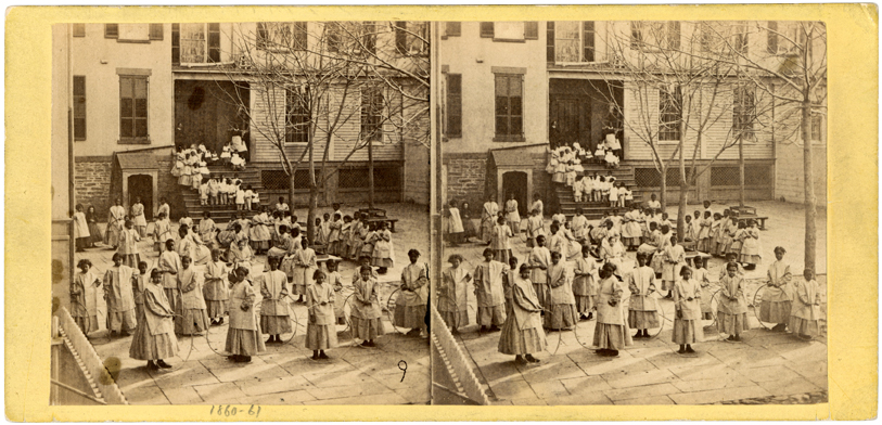 [School Yard, Colored Orphan Asylum]. Association for the Benefit of Colored Orphans Records, The New-York Historical Society.