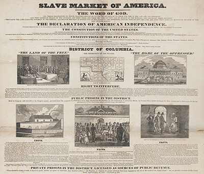 Slave Market of America. 1836. M1975.838.1. Brooklyn Historical Society.